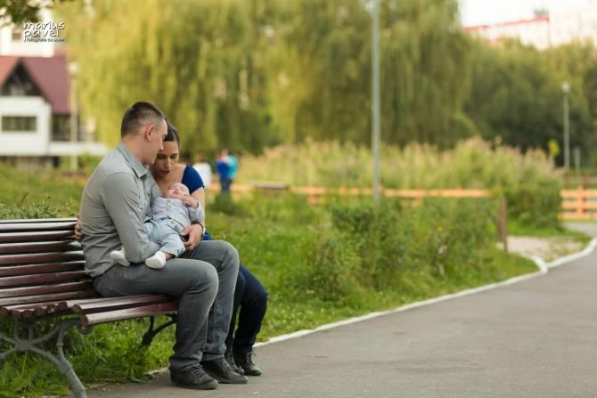 Fotografie dupa botez – parinti si bebe Brasov