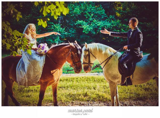 Trash the dress – fotografii cu cai