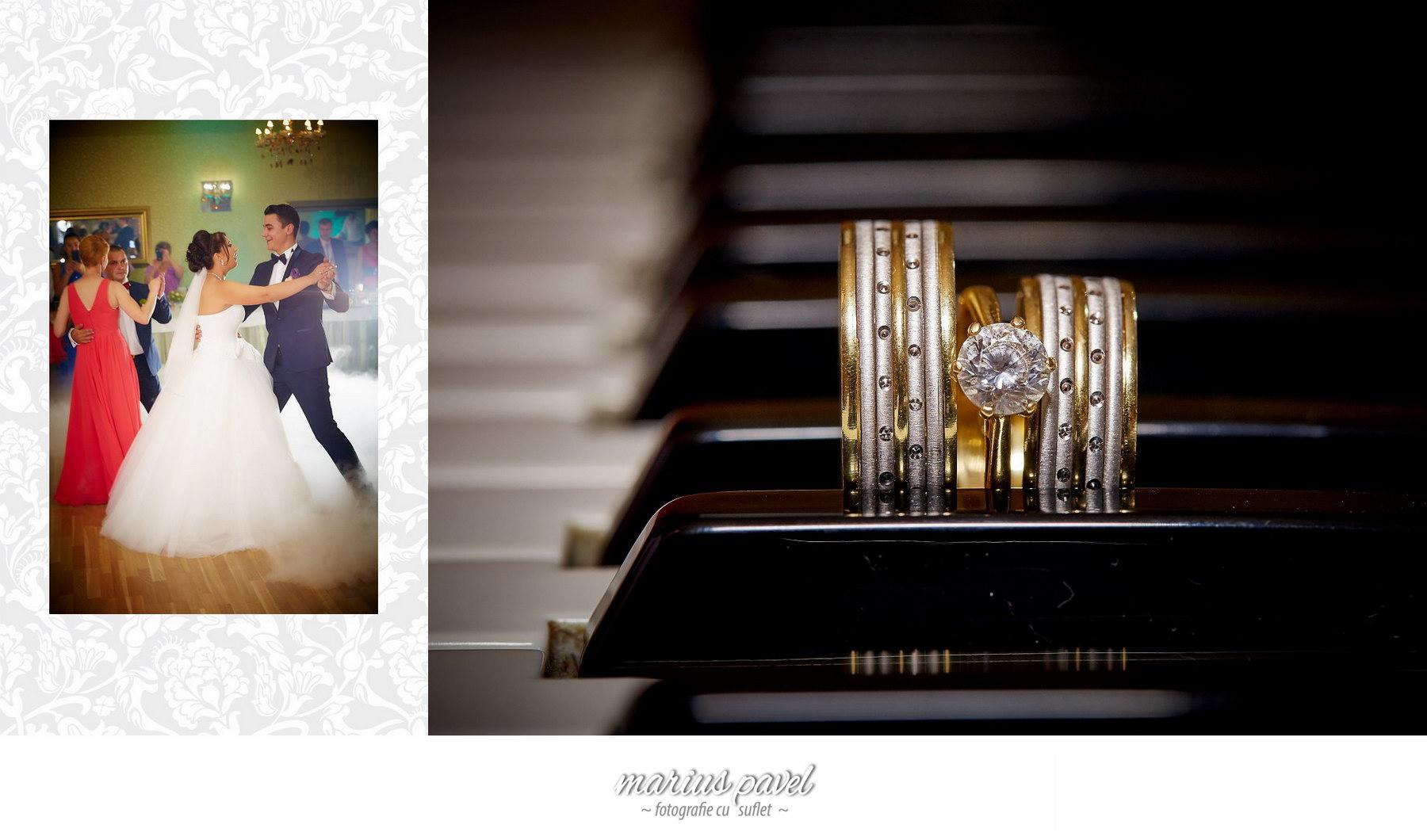 Fotografiile nuntii asezate in colaje