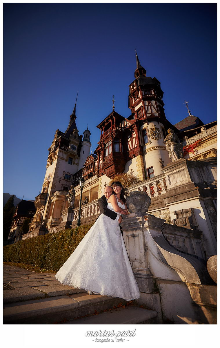 Trash the dress la castelul Peles