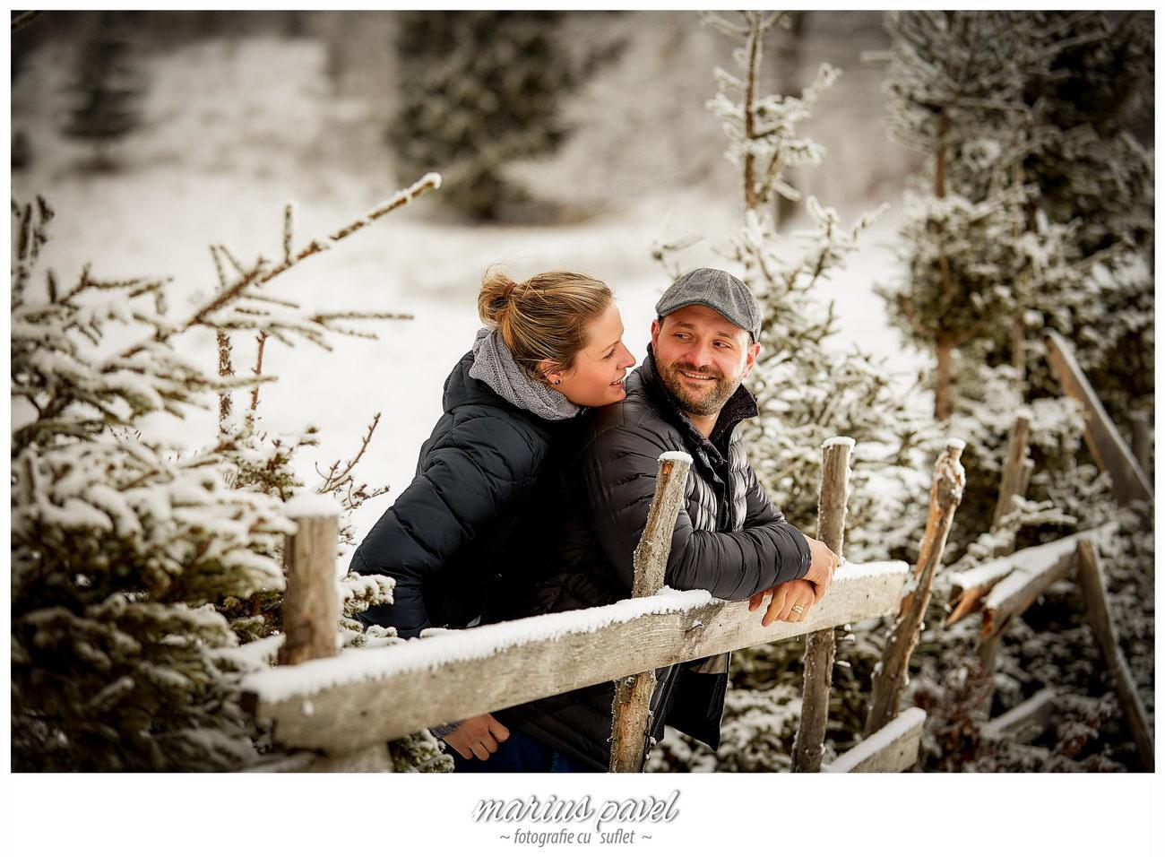 Sedinta foto inainte de nunta iarna