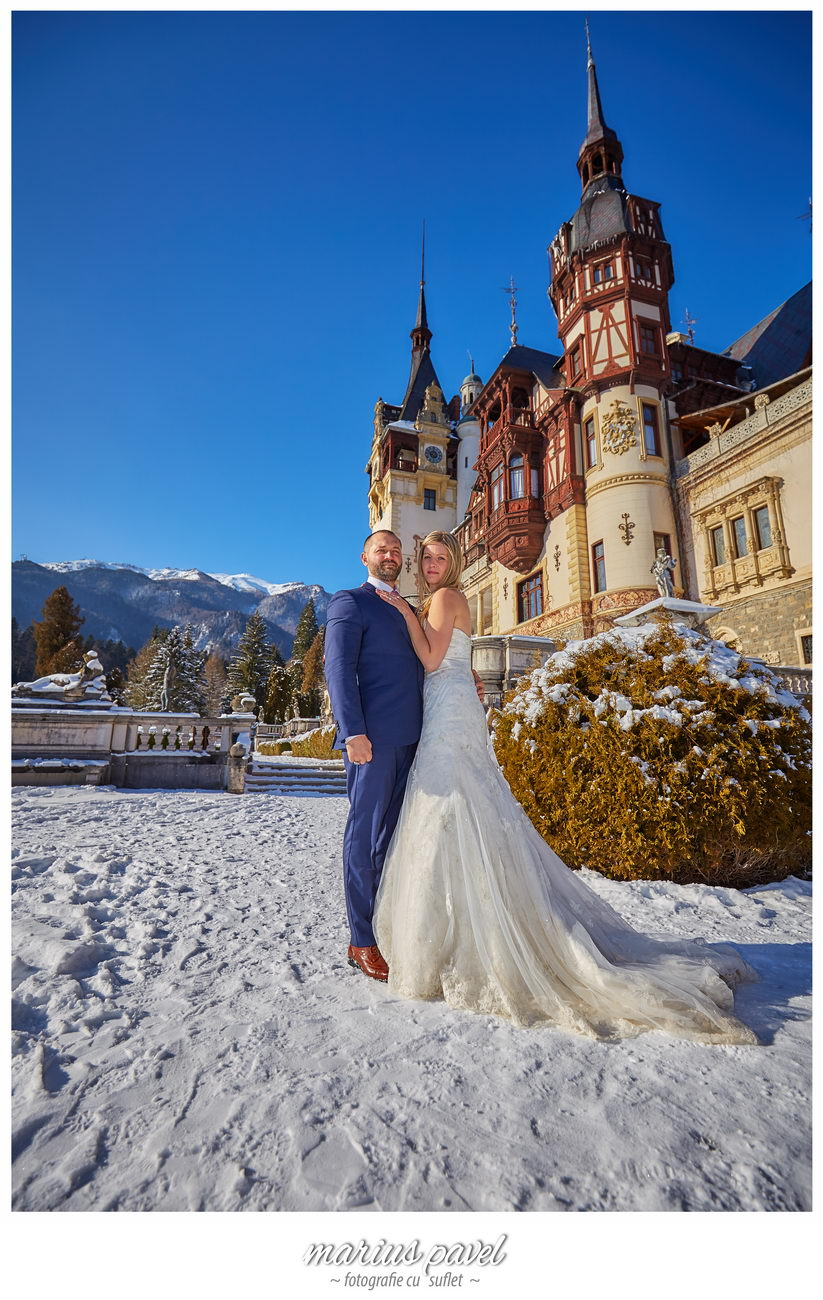 Winter photo shoot – trash the dress