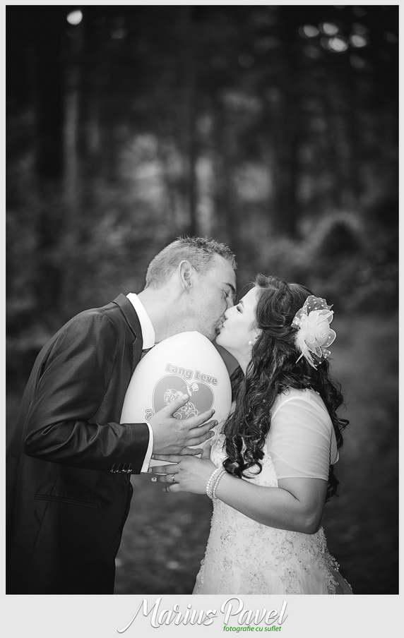 Fotografii cu mirele si mireasa dupa nunta in Brasov